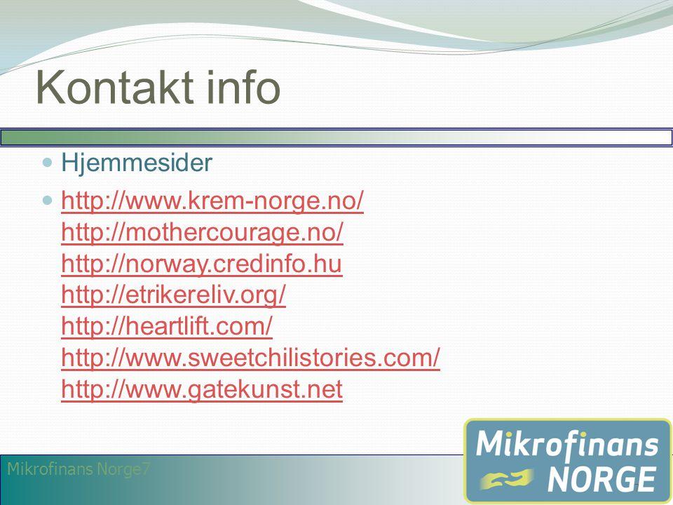 Kontakt info Hjemmesider