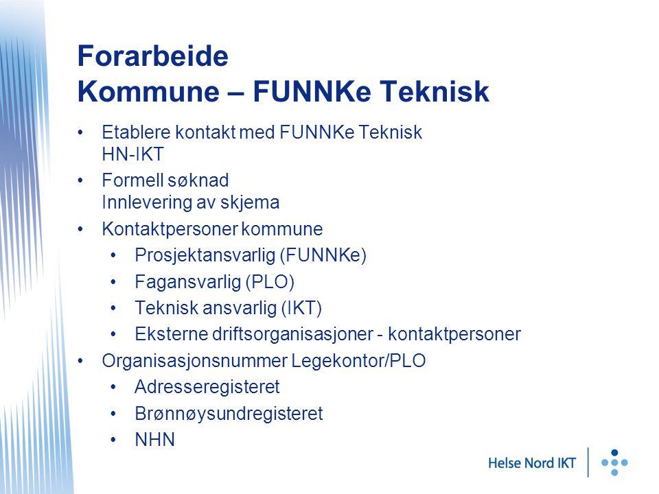 Forarbeide Kommune – FUNNKe Teknisk