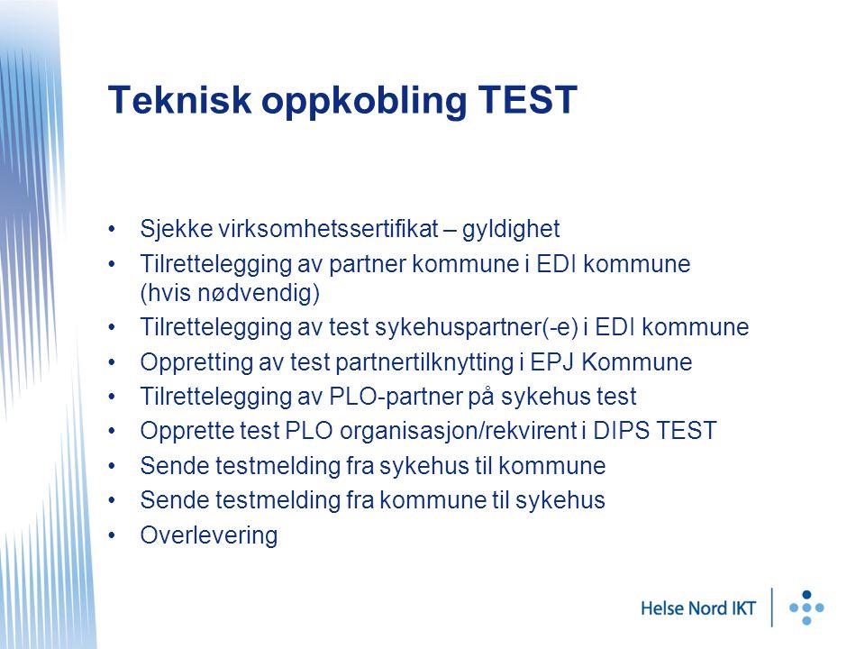 Teknisk oppkobling TEST