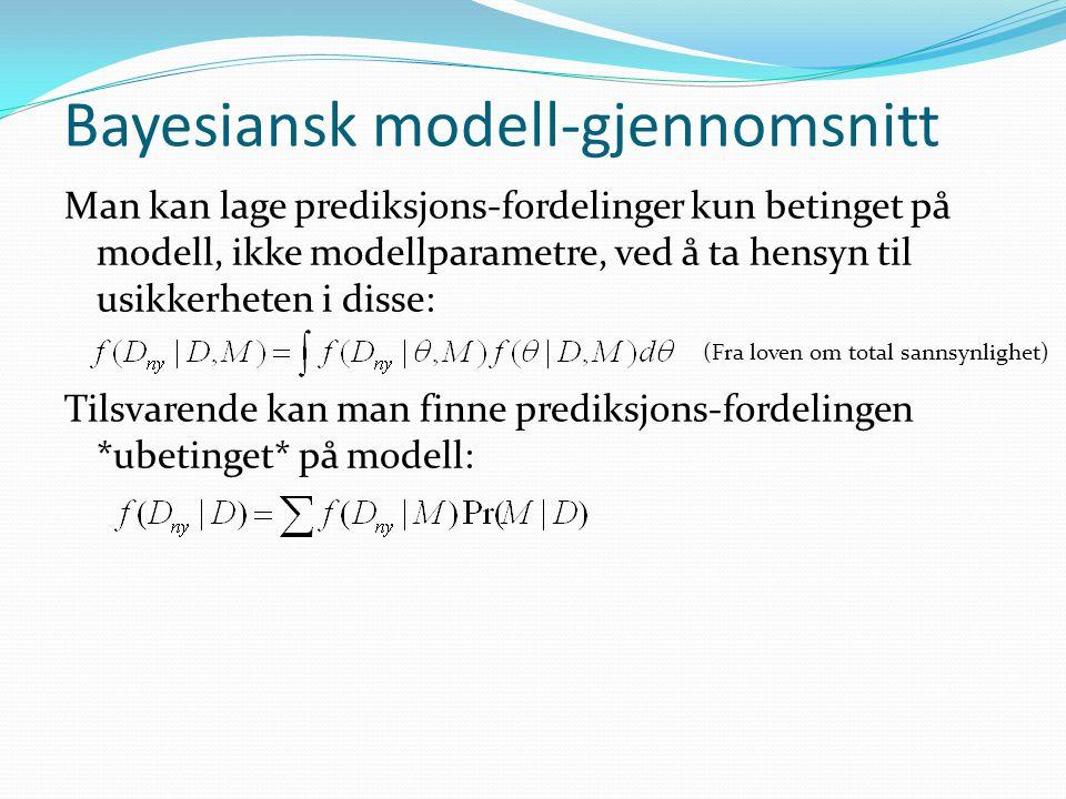 Bayesiansk modell-gjennomsnitt