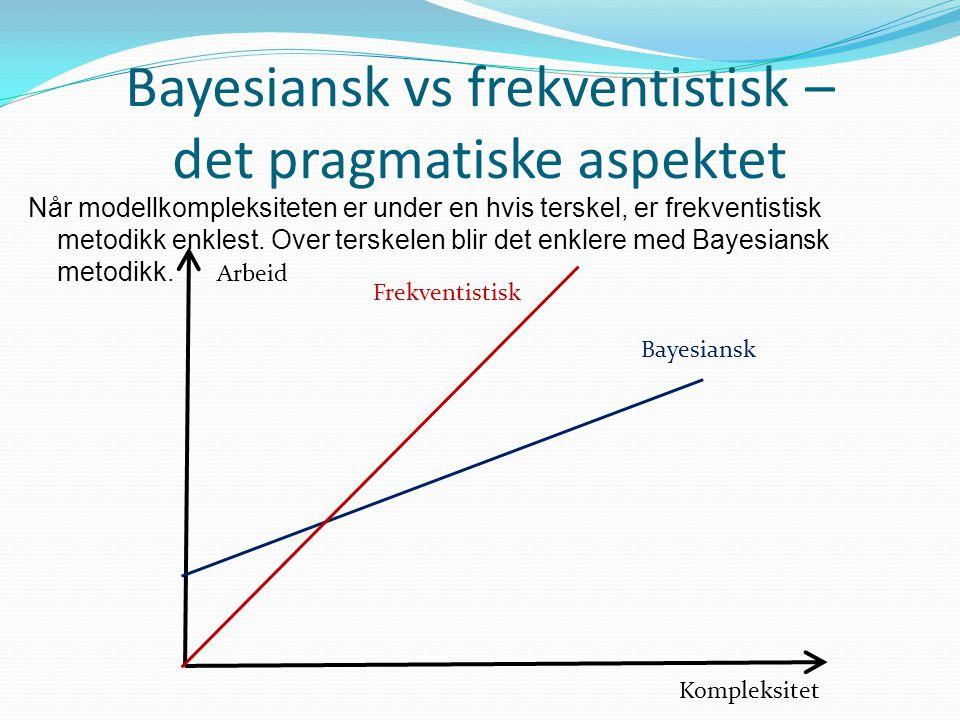 Bayesiansk vs frekventistisk – det pragmatiske aspektet