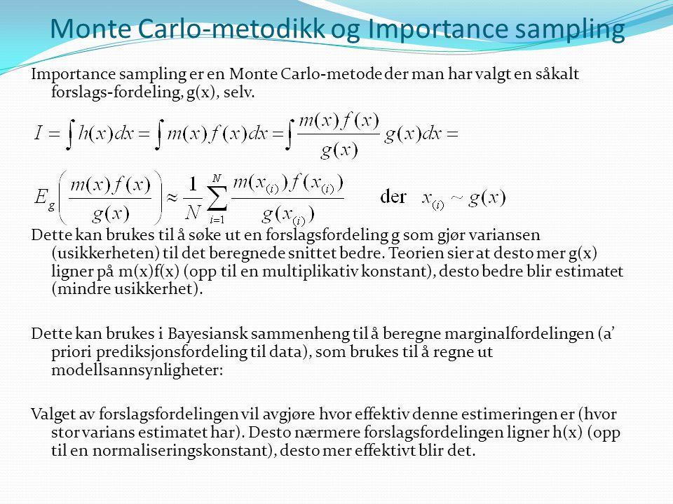 Monte Carlo-metodikk og Importance sampling