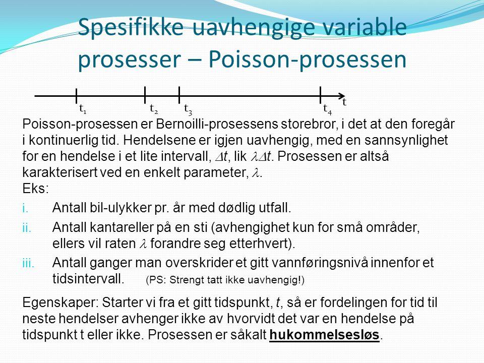 Spesifikke uavhengige variable prosesser – Poisson-prosessen