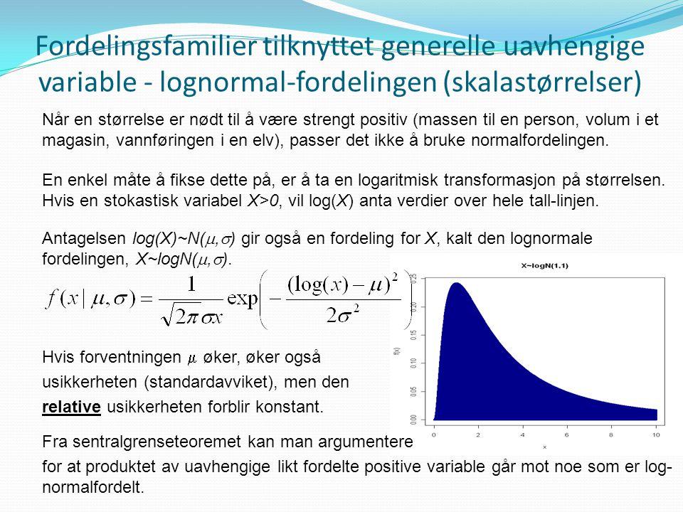 Fordelingsfamilier tilknyttet generelle uavhengige variable - lognormal-fordelingen (skalastørrelser)