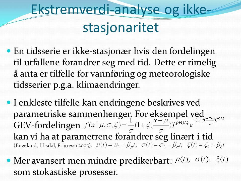 Ekstremverdi-analyse og ikke-stasjonaritet