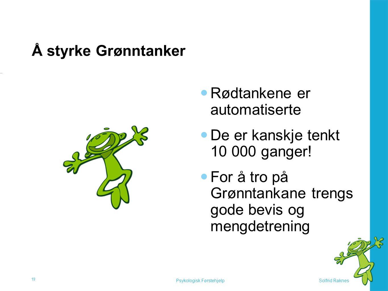 Å styrke grønntanker Tips for å styrke Grønntanker: