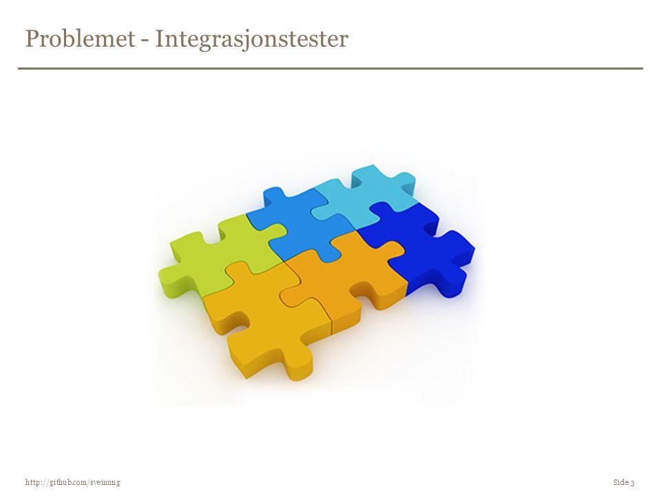 Problemet - Integrasjonstester