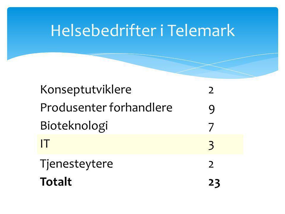 Helsebedrifter i Telemark