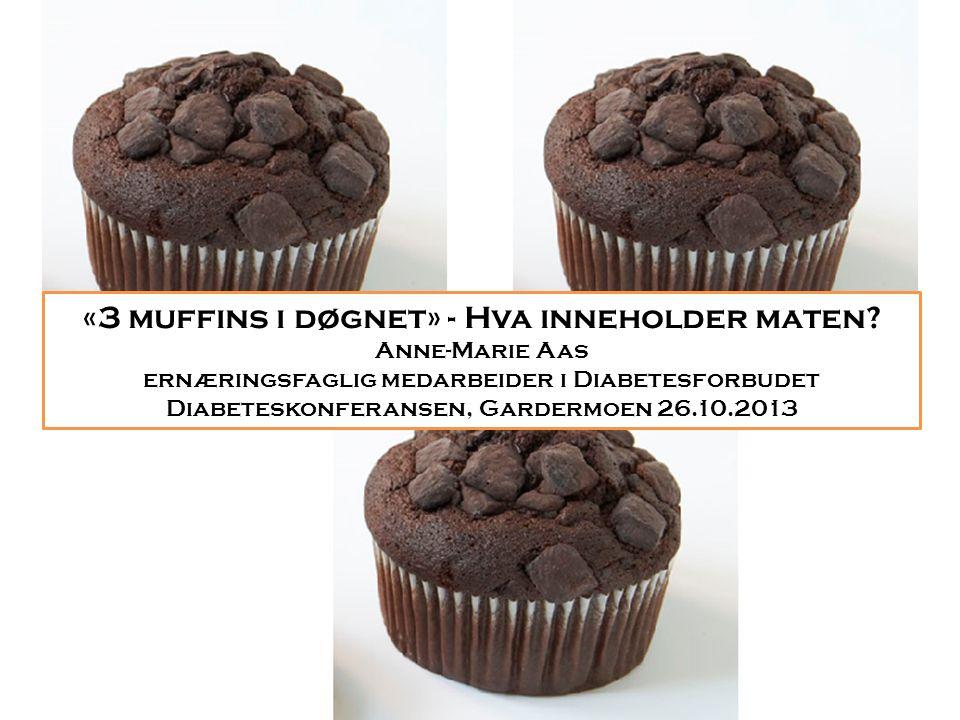 «3 muffins i døgnet» - Hva inneholder maten