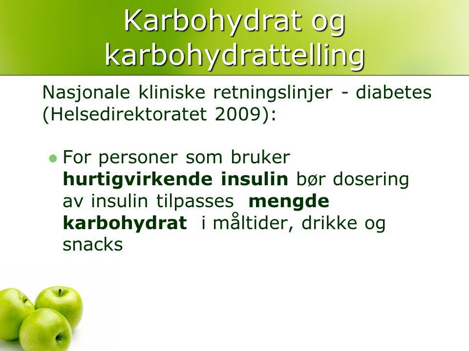 Karbohydrat og karbohydrattelling