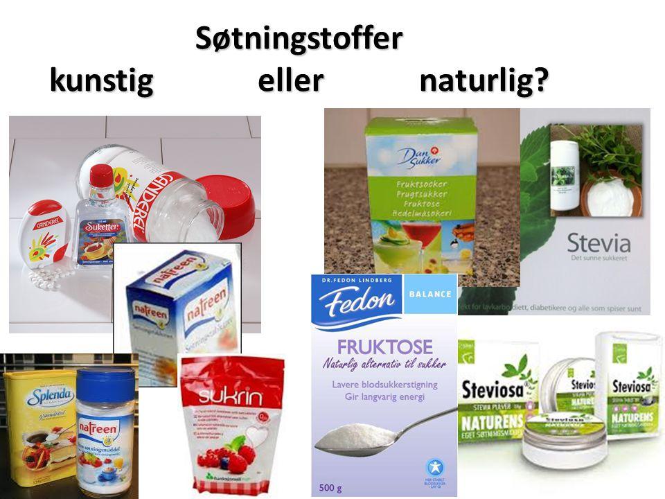 Søtningstoffer kunstig eller naturlig