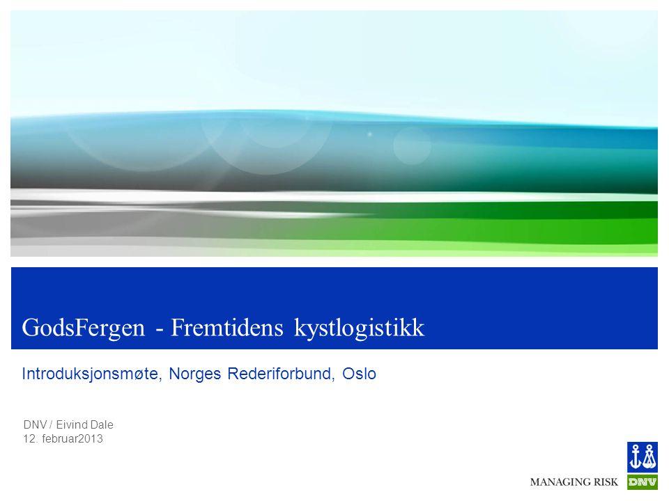 GodsFergen - Fremtidens kystlogistikk
