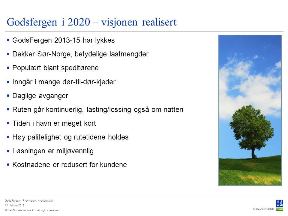 Godsfergen i 2020 – visjonen realisert