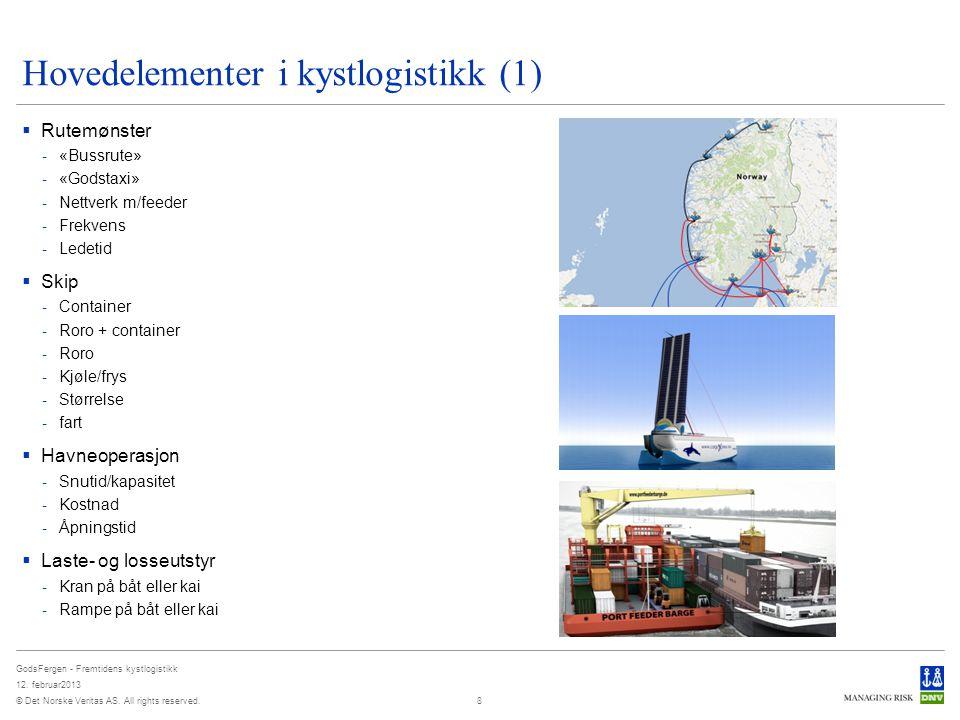 Hovedelementer i kystlogistikk (1)
