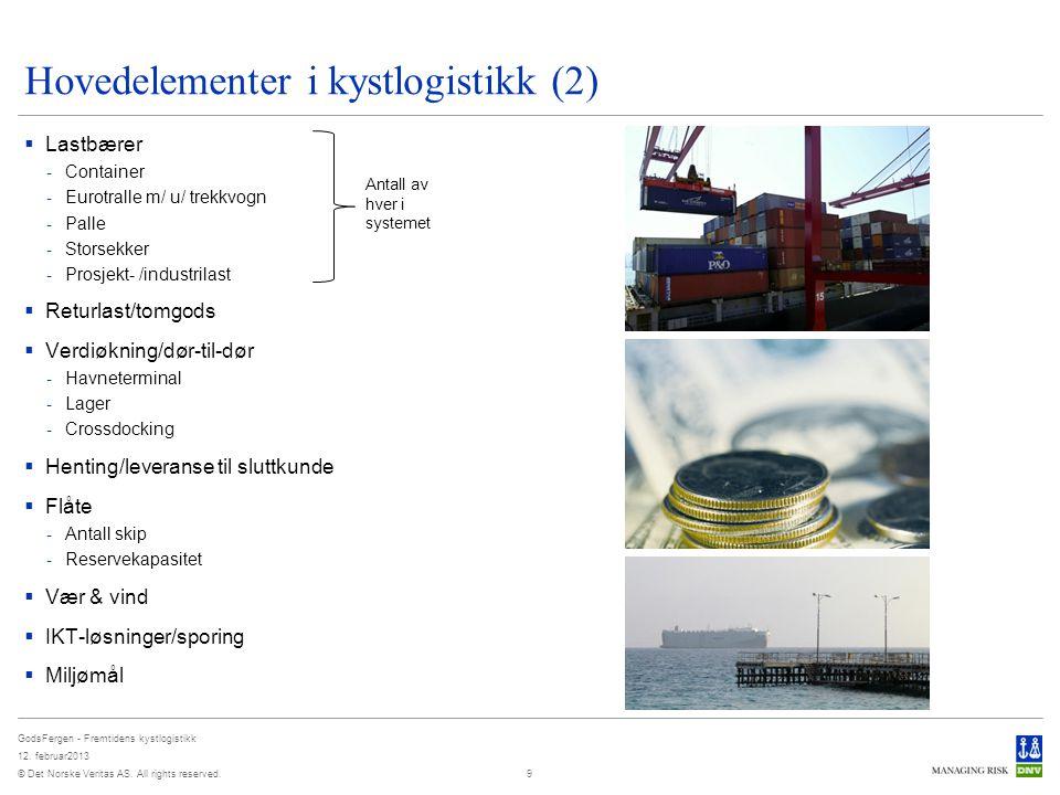 Hovedelementer i kystlogistikk (2)