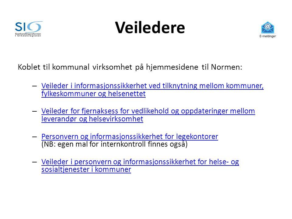 Veiledere Koblet til kommunal virksomhet på hjemmesidene til Normen: