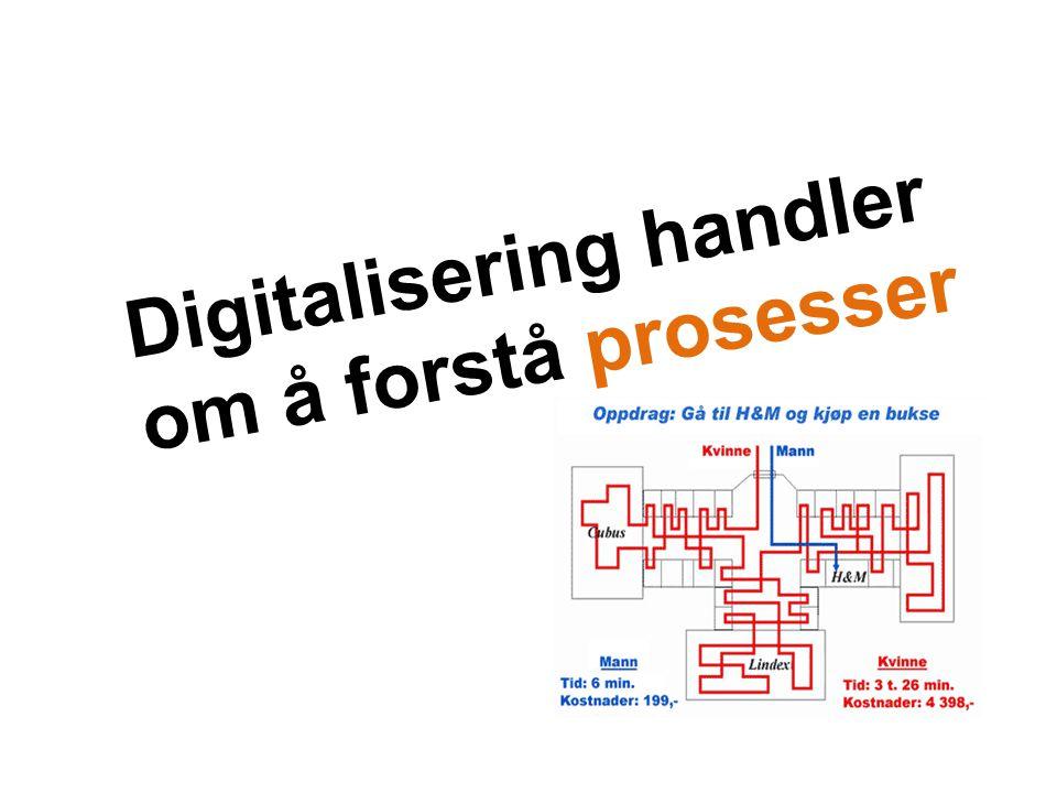 Digitalisering handler om å forstå prosesser