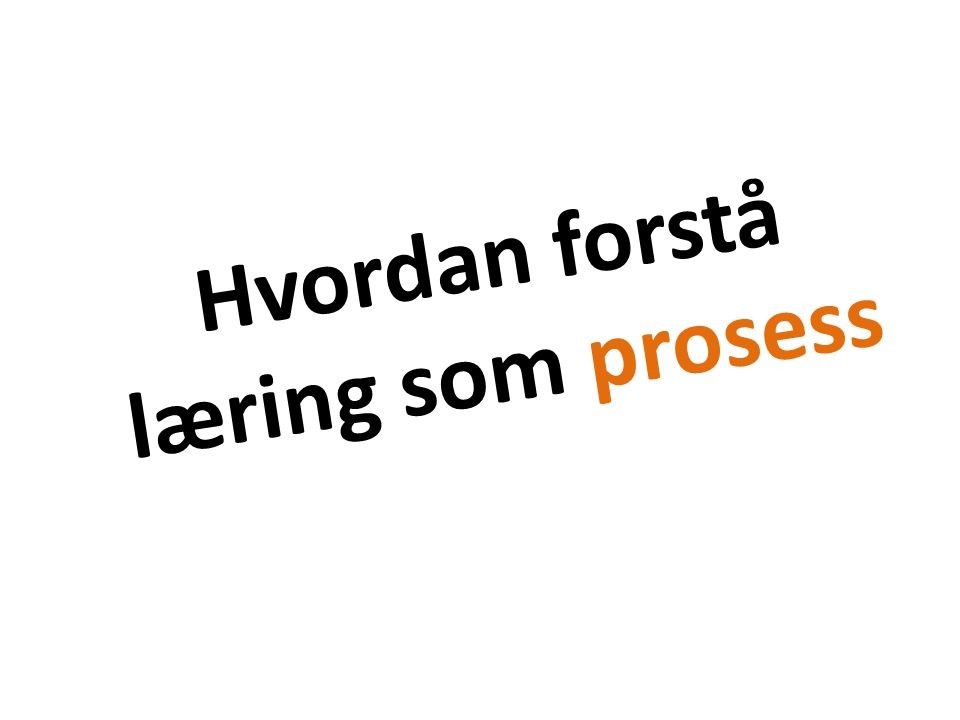 Hvordan forstå læring som prosess