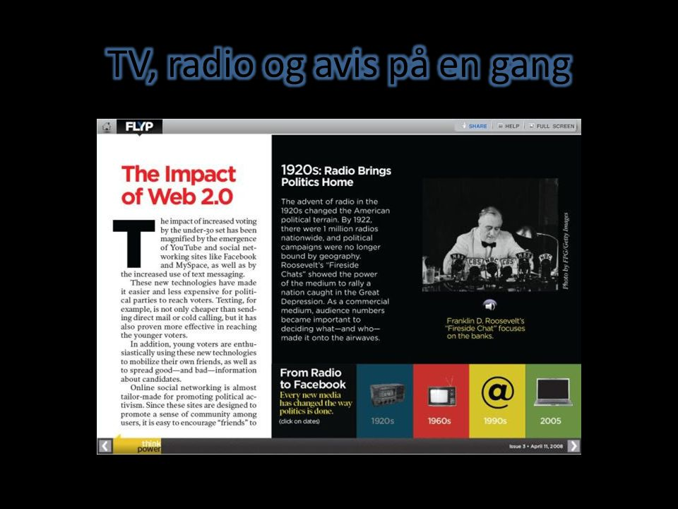 TV, radio og avis på en gang