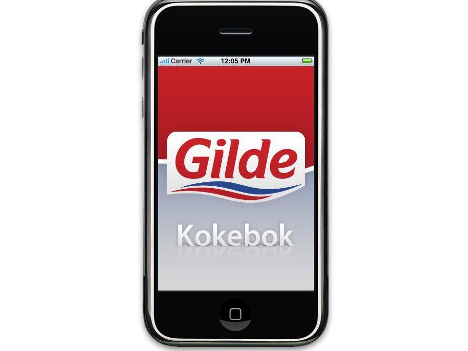 Applikasjonen er utarbeidet for Gilde i samarbeid med DIST Norge og Carat Norge.