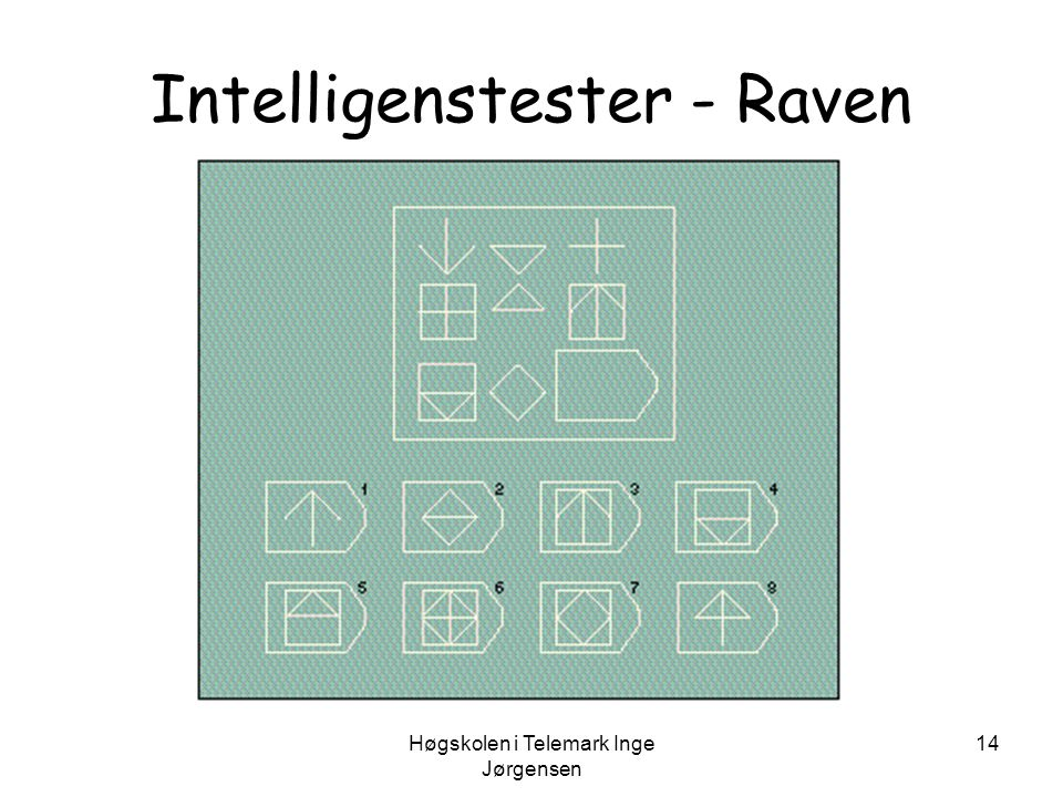 Intelligenstester - Raven