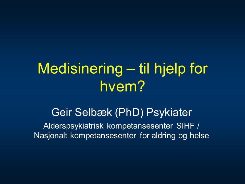 Medisinering – til hjelp for hvem