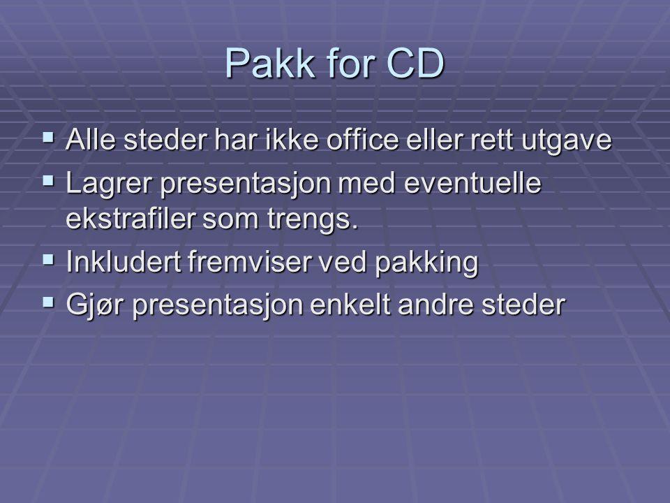 Pakk for CD Alle steder har ikke office eller rett utgave