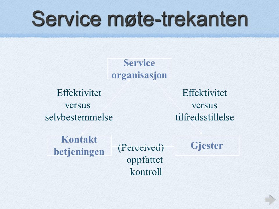 Service møte-trekanten