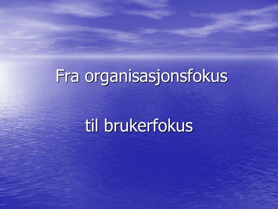Fra organisasjonsfokus