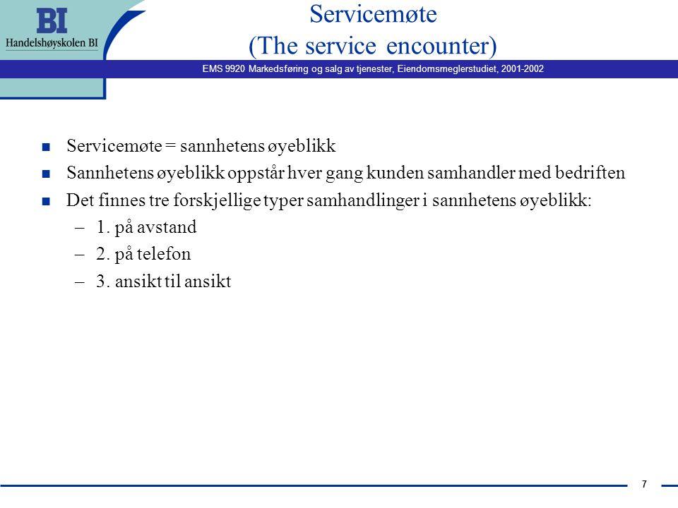 Servicemøte (The service encounter)