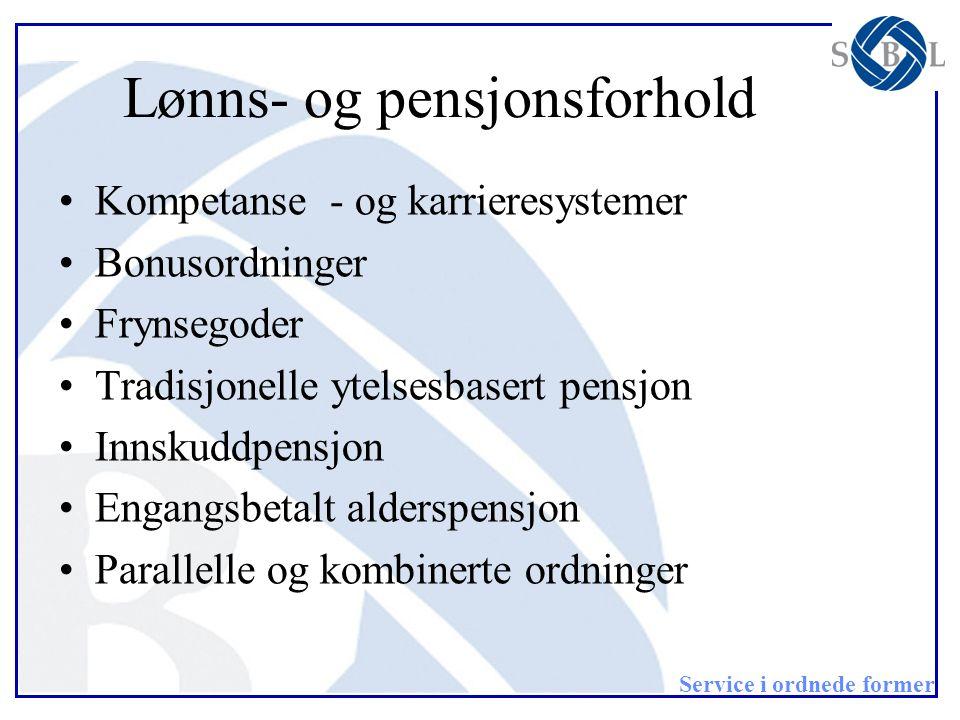 Lønns- og pensjonsforhold