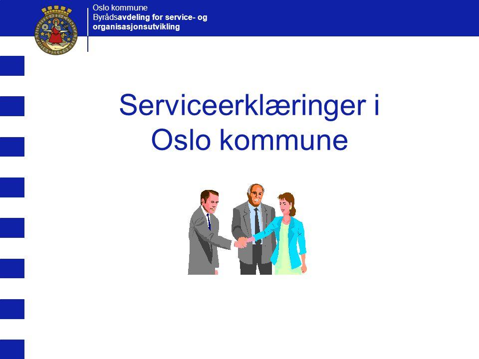 Serviceerklæringer i Oslo kommune