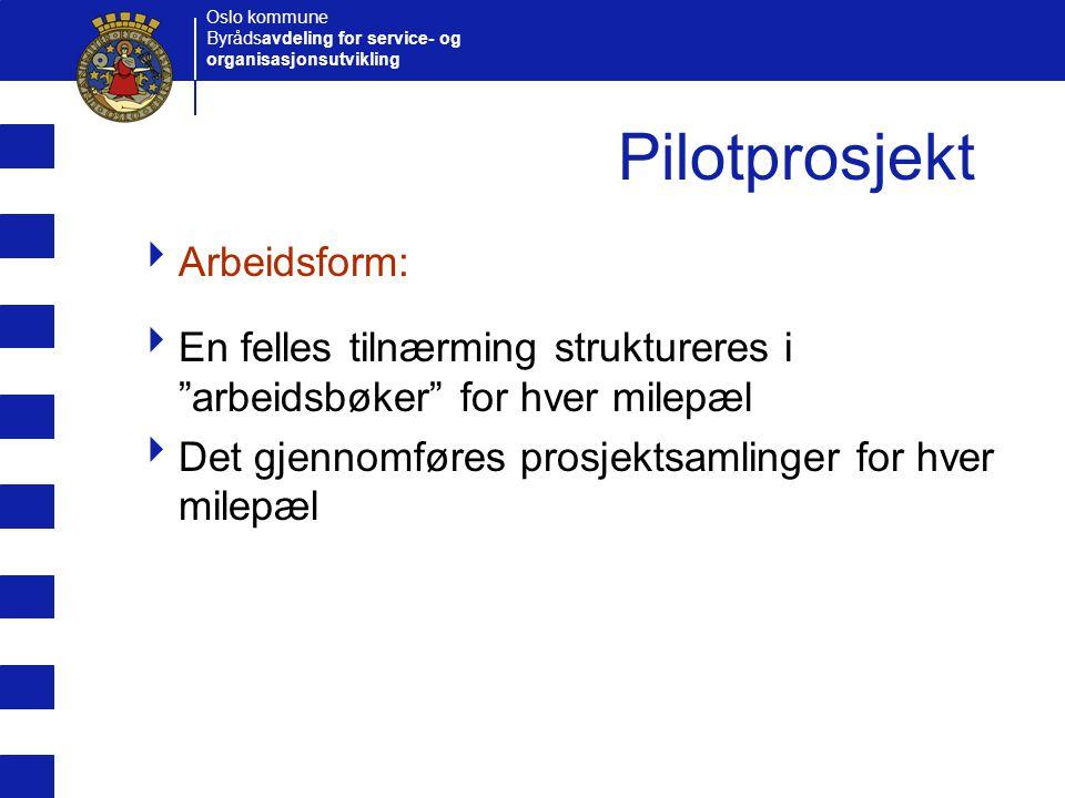 Pilotprosjekt Arbeidsform: