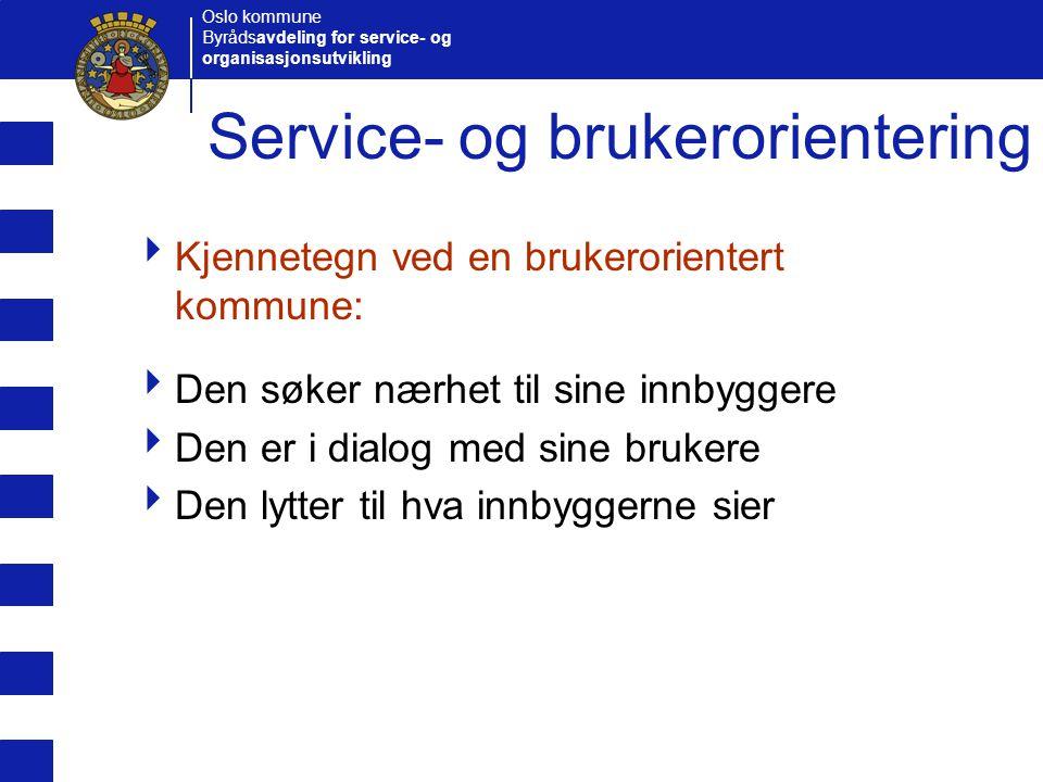 Service- og brukerorientering