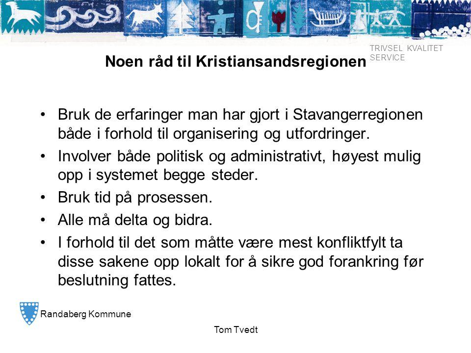 Noen råd til Kristiansandsregionen