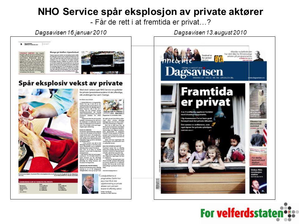 NHO Service spår eksplosjon av private aktører - Får de rett i at fremtida er privat…