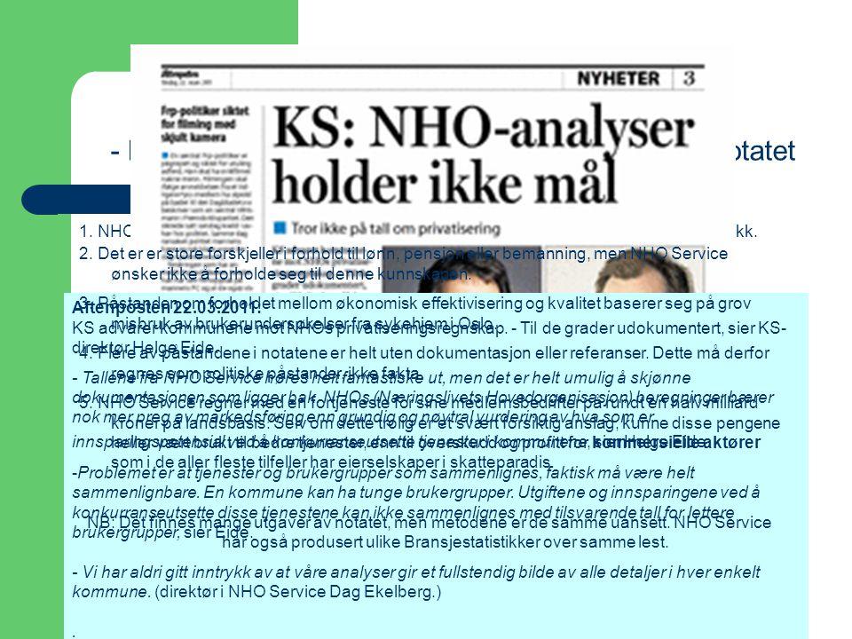 Tenk på et tall! - Fagforbundets gjennomgang av NHO Service notatet