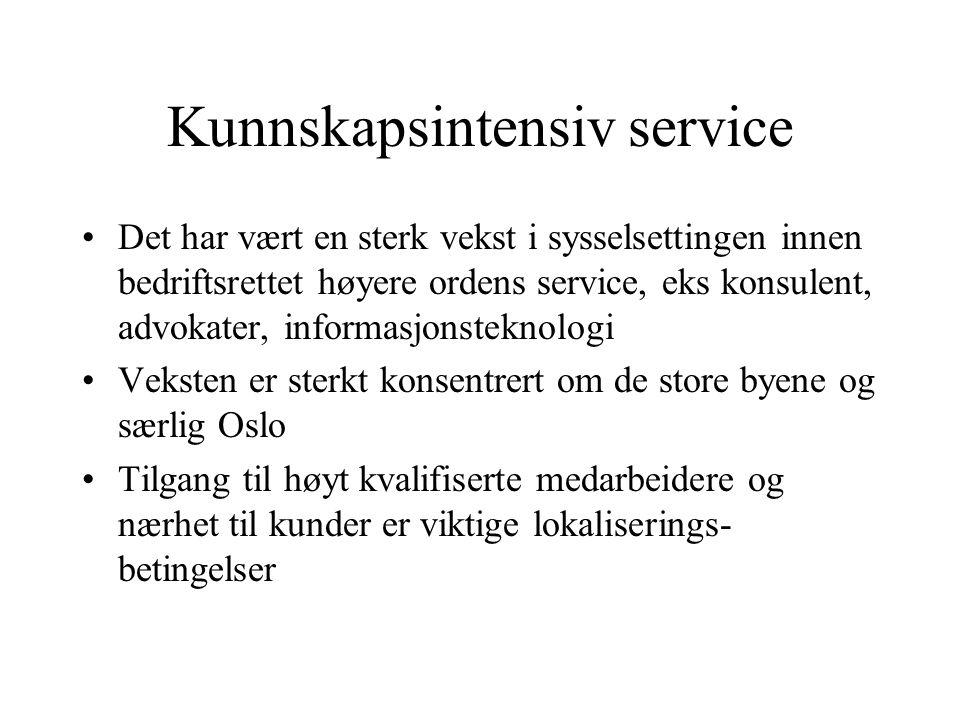 Kunnskapsintensiv service