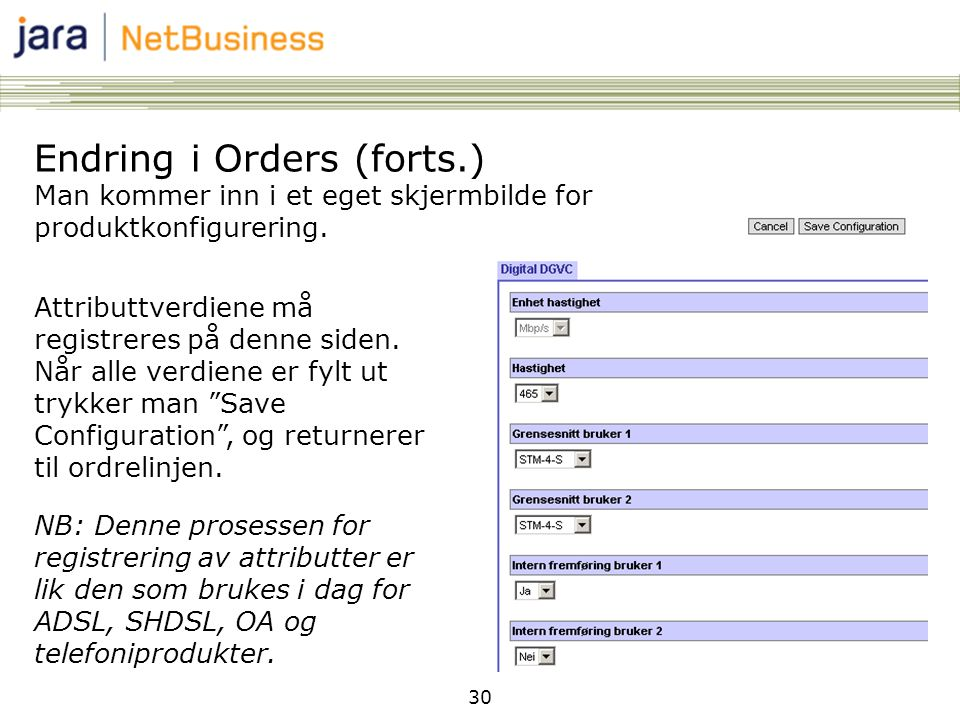 Endring i Orders (forts