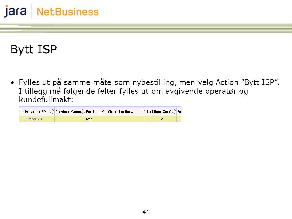 Bytt ISP