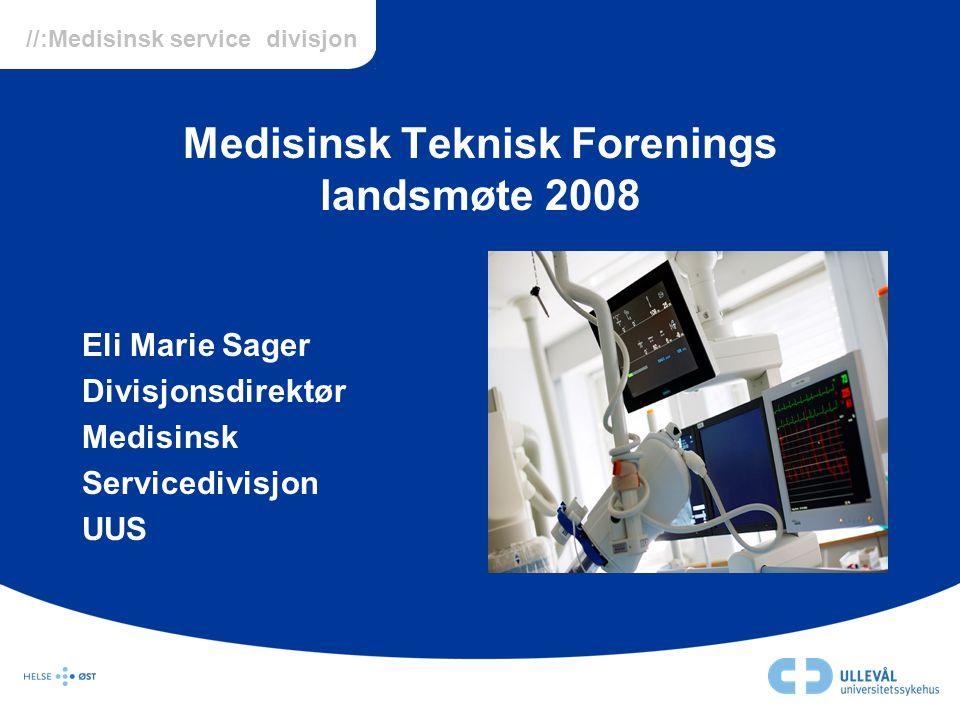 Medisinsk Teknisk Forenings landsmøte 2008