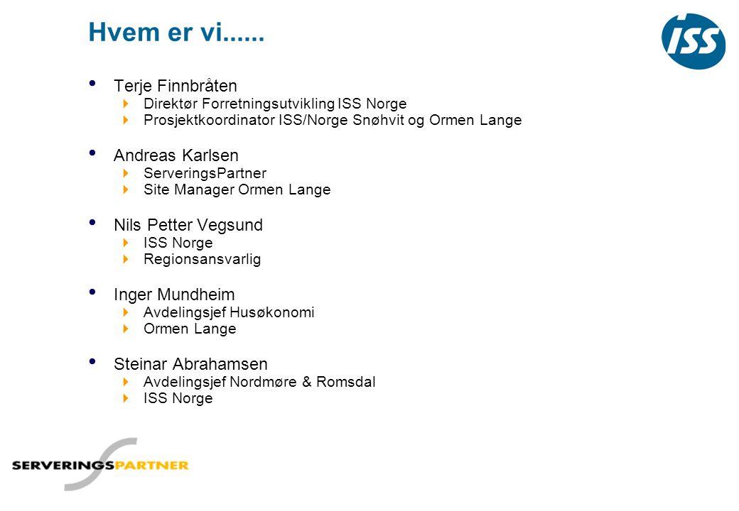 Hvem er vi...... Terje Finnbråten Andreas Karlsen Nils Petter Vegsund