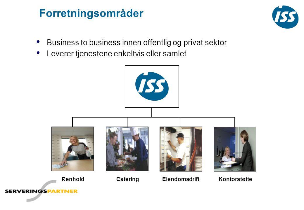 Forretningsområder Business to business innen offentlig og privat sektor. Leverer tjenestene enkeltvis eller samlet.