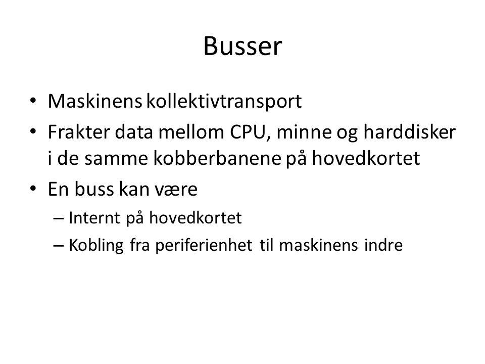 Busser Maskinens kollektivtransport