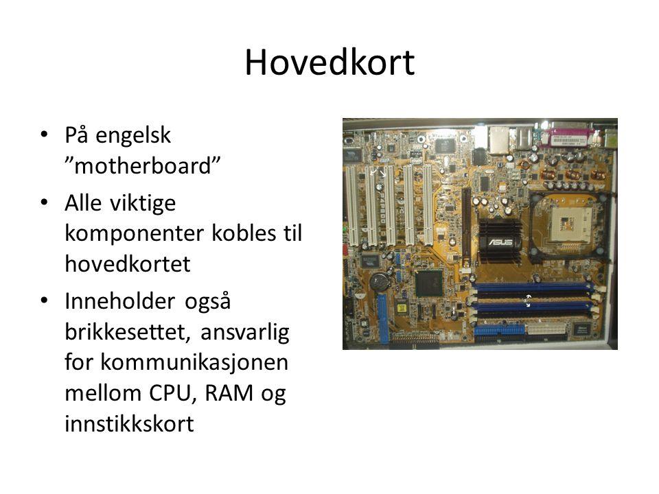 Hovedkort På engelsk motherboard