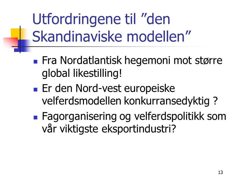 Utfordringene til den Skandinaviske modellen