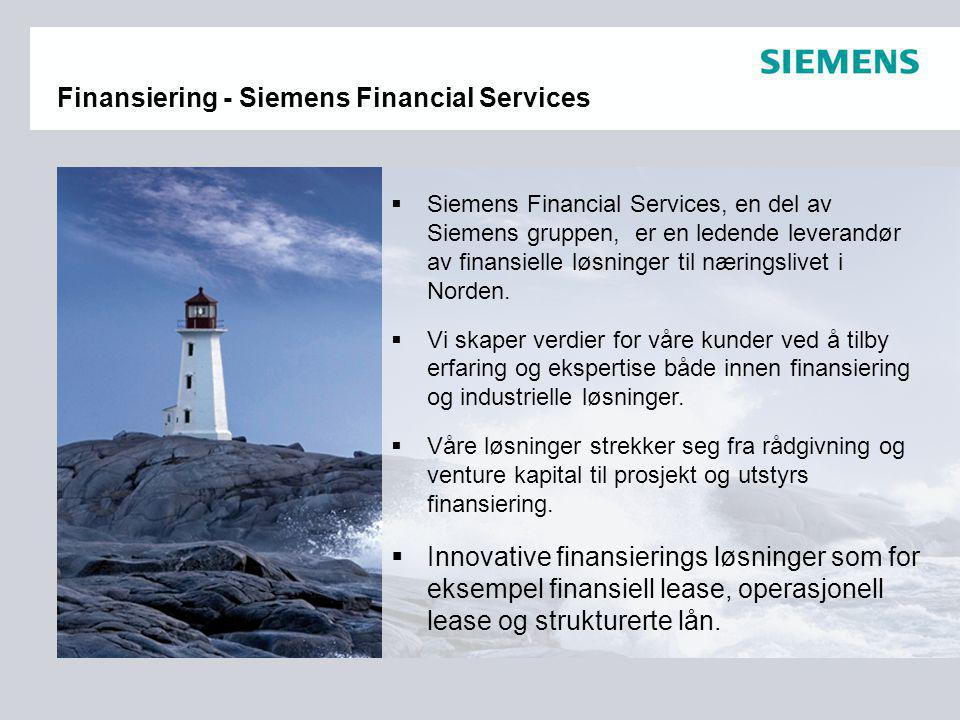 Finansiering - Siemens Financial Services