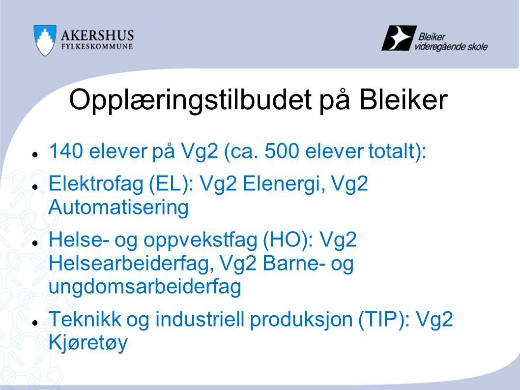 Opplæringstilbudet på Bleiker