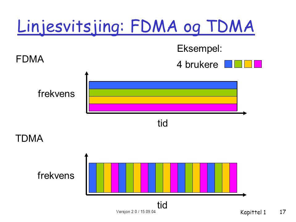 Linjesvitsjing: FDMA og TDMA