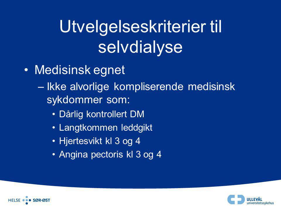 Utvelgelseskriterier til selvdialyse